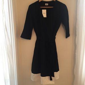 Lavai Maria Black & White Wrap Dress, sz. M